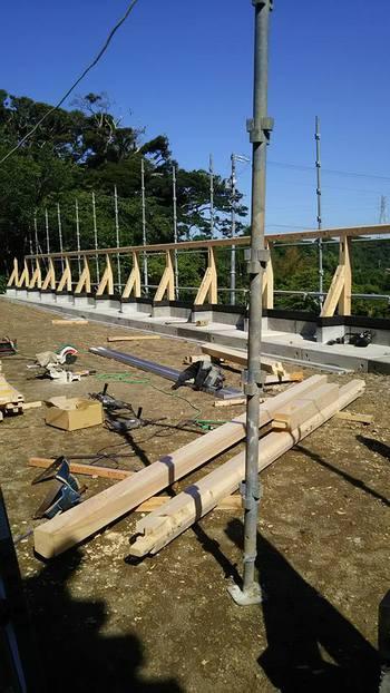 築地塀工事スタート