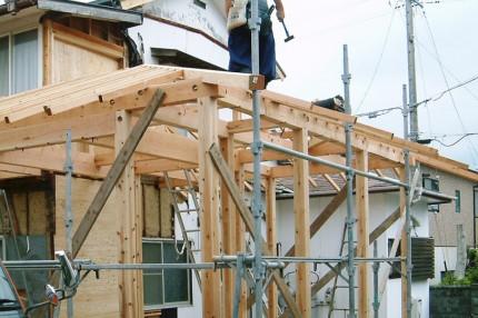 耐震補強の家_施工中の様子